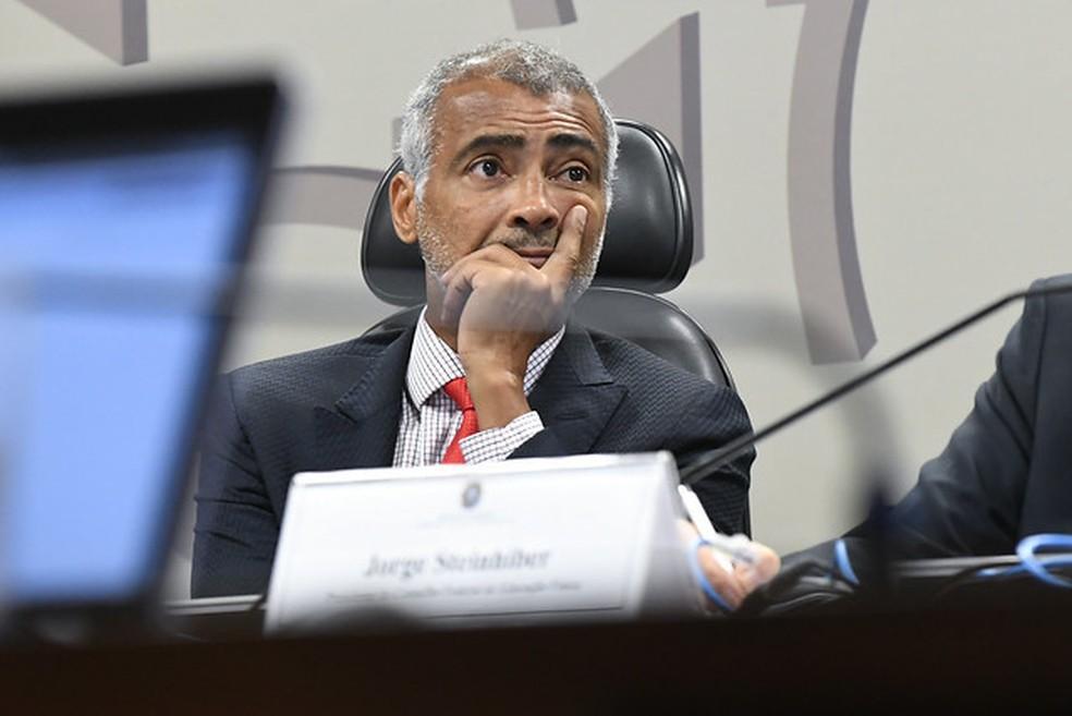 Romário, senador — Foto: Jane de Araújo/Agência Senado