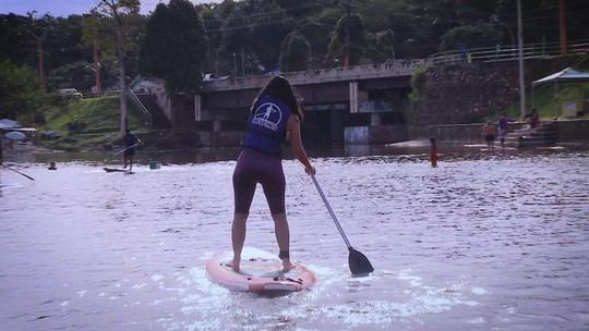 Arqueira indígena e SUP para crianças em Rio Preto da Eva agitam 'Zapp'