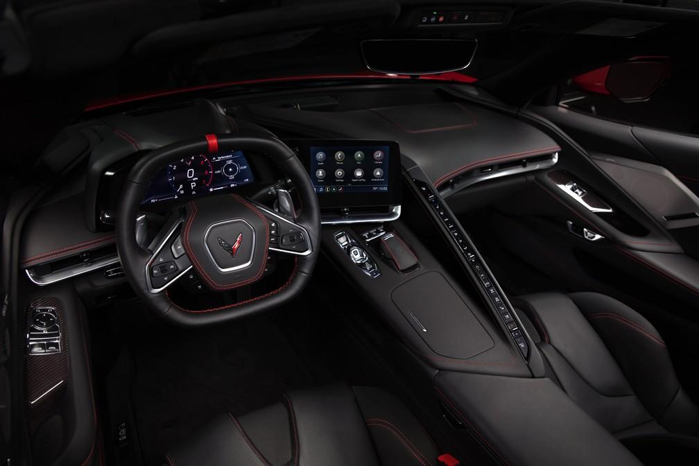 Interior do Chevrolet Corvette Stingray 2020 — Foto: Chevrolet/Divulgação