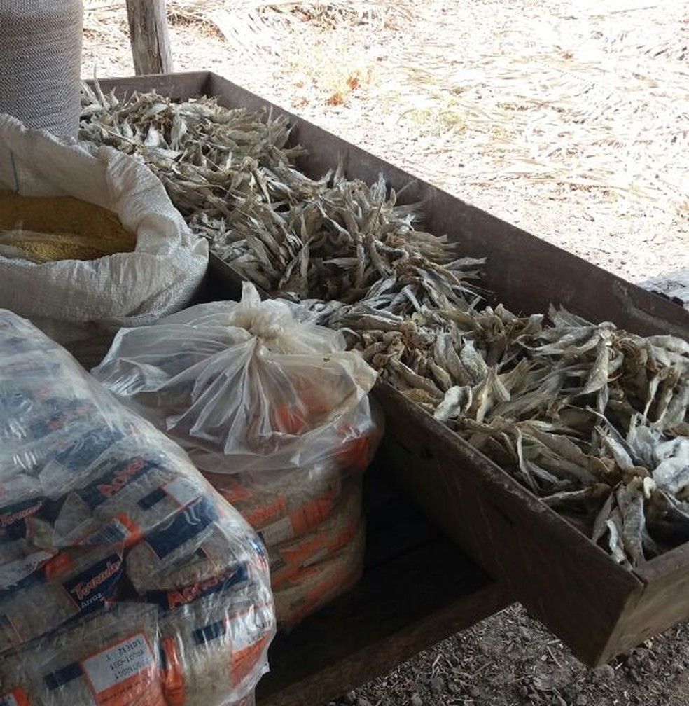 Alimentos eram guardados em local impróprio (Foto: Divulgação / PRF)