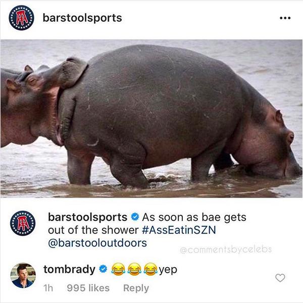O comentário inesperado de Tom Brady no Instagram (Foto: Instagram)