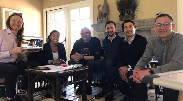 Pedro Moura e a equipe da Flourish (Foto: Divugação)