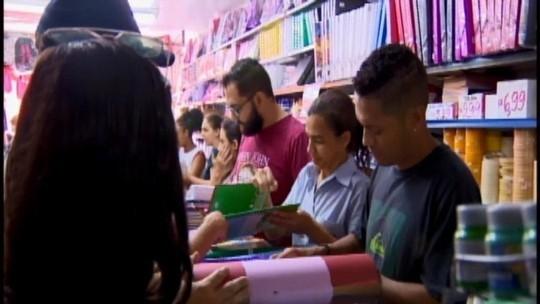 Volta às aulas movimenta vendas nas papelarias em Divinópolis