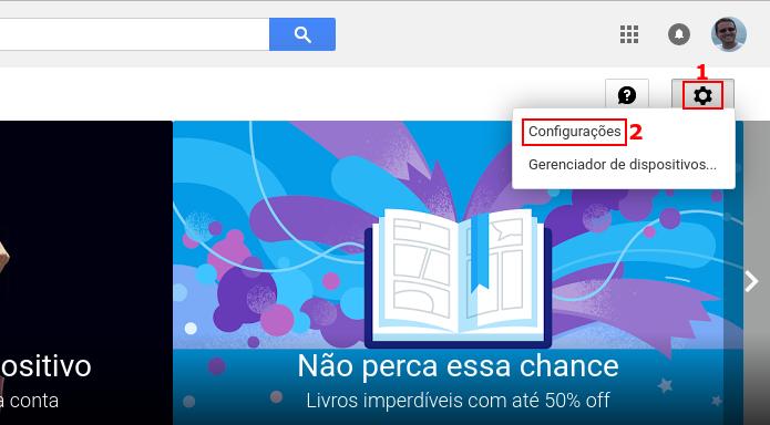 Acessando as configurações da Interface web do Google Play (Foto: Reprodução/Edivaldo Brito)