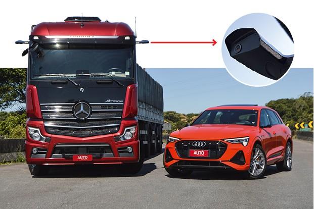 As câmeras ainda usam suportes externos para ampliar o ângulo de visão.  (Foto: André Schaun)