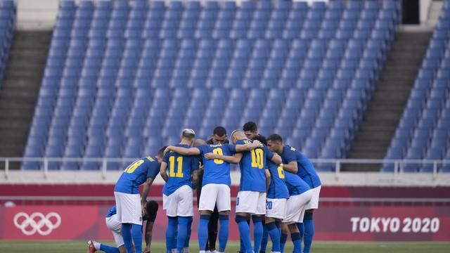 Seleção se concentra antes de voltar para o segundo tempo