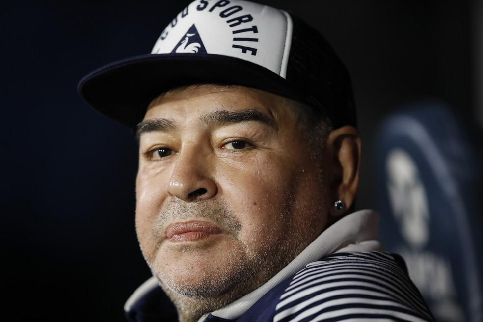 Diego Maradona, em foto de março de 2020 — Foto: Natacha Pisarenko/AP/Arquivo