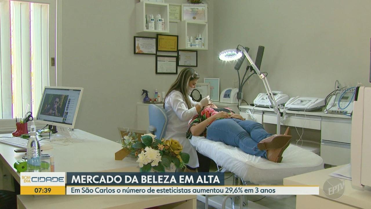 O número de esteticistas aumentou 29,6% em 3 anos, em São Carlos
