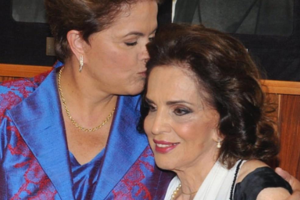 A ex-presidente Dilma Rousseff com a mãe, Dilma Jane — Foto: Instagram Dilma Rousseff/Arquivo Pessoal
