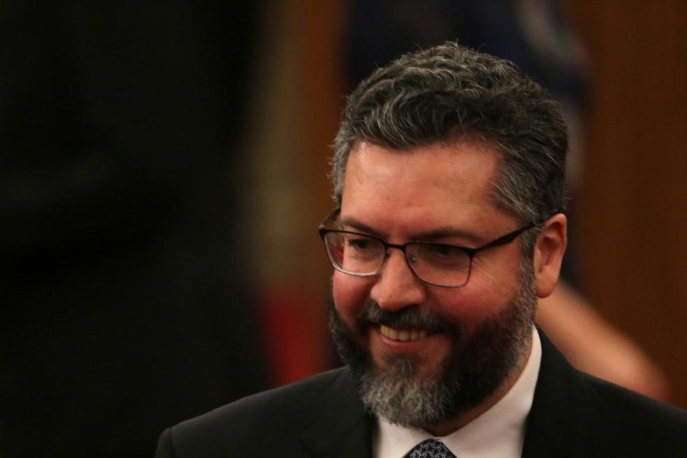 O ministro das Relações Exteriores, Ernesto Araújo  — Foto: FáTIMA MEIRA/FUTURA PRESS/FUTURA PRESS/ESTADÃO CONTEÚDO
