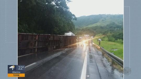 Pelo menos quatro acidentes são registrados na Fernão Dias no Sul de Minas