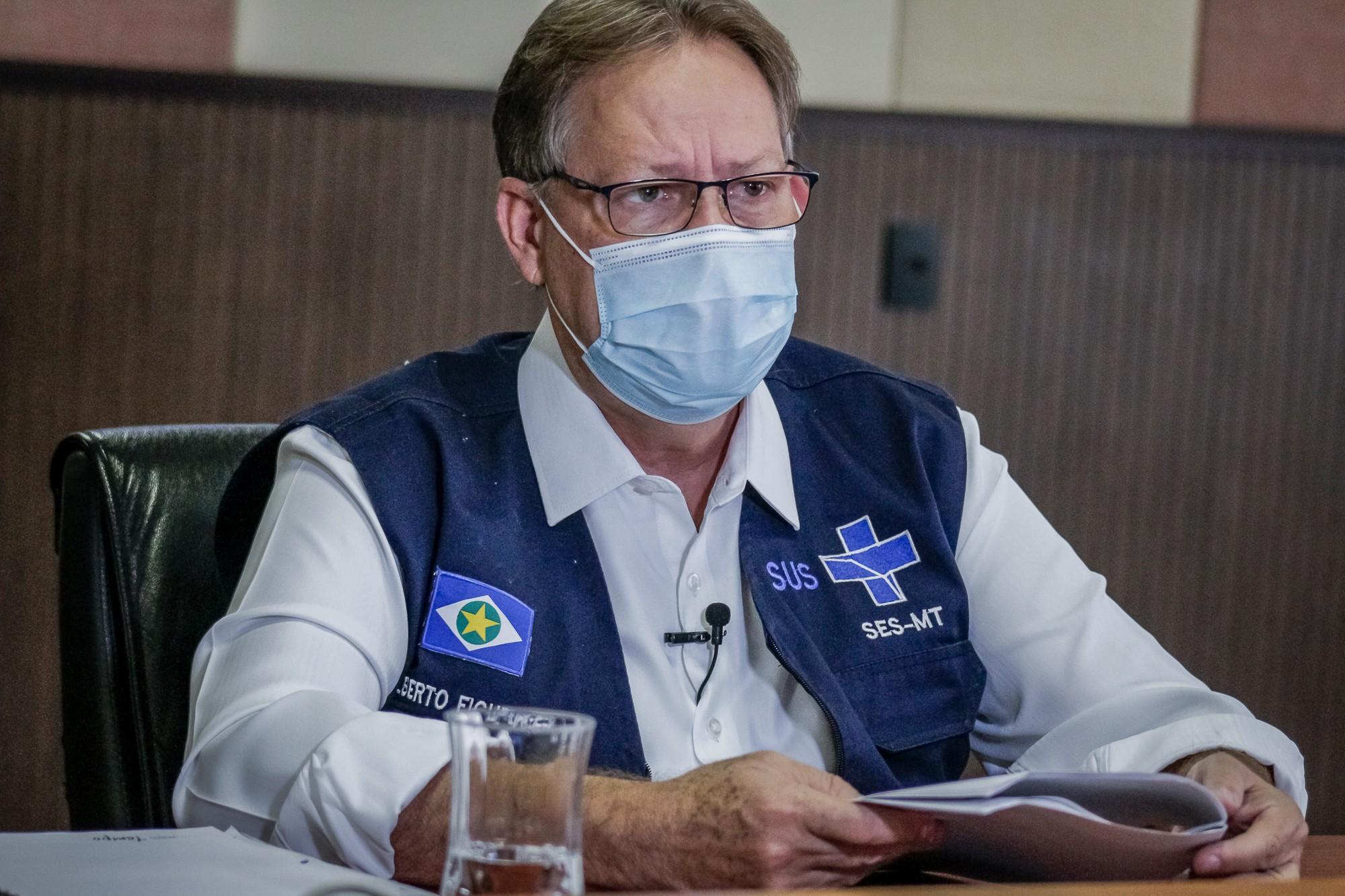 Exame realizado no secretário de Saúde de MT detecta novamente coronavírus; ele testou positivo para Covid-19 em junho