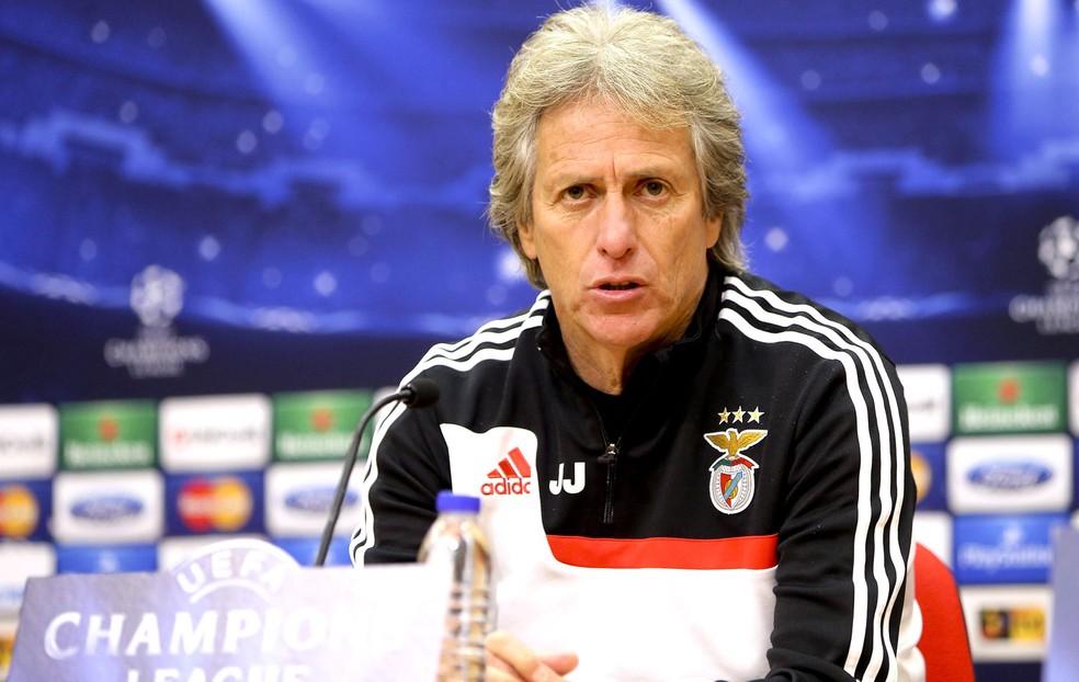 Jorge Jesus comandou o Benfica por seis temporadas e conquistou dez títulos — Foto: EFE