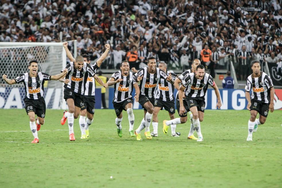 Atlético-MG comemora título da Libertadores 2013 — Foto: Bruno Cantini/Atlético-MG