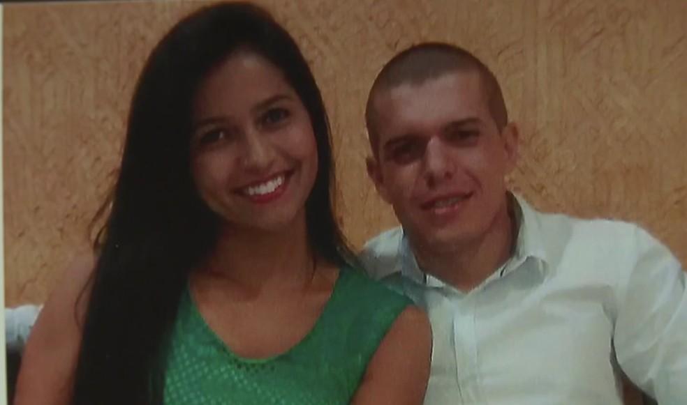 Policial militar Ronan Menezes Rego e a ex-namorada Jessyka Lainara  — Foto: TV Globo/Reprodução