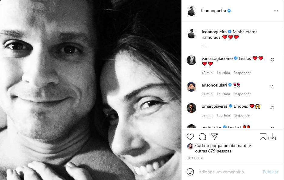 O diretor Leonardo Nogueira e Giovanna Antonelli (Foto: Reprodução/Instagram)