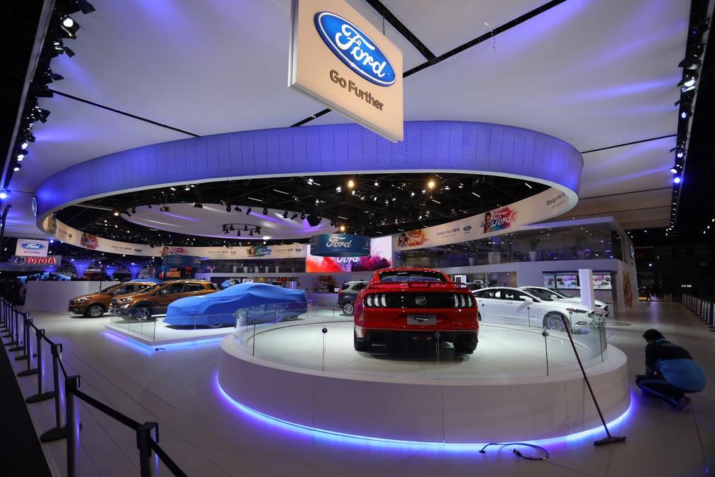 Stand da Ford no Salão do Automóvel 2018 — Foto: Fábio Tito/G1