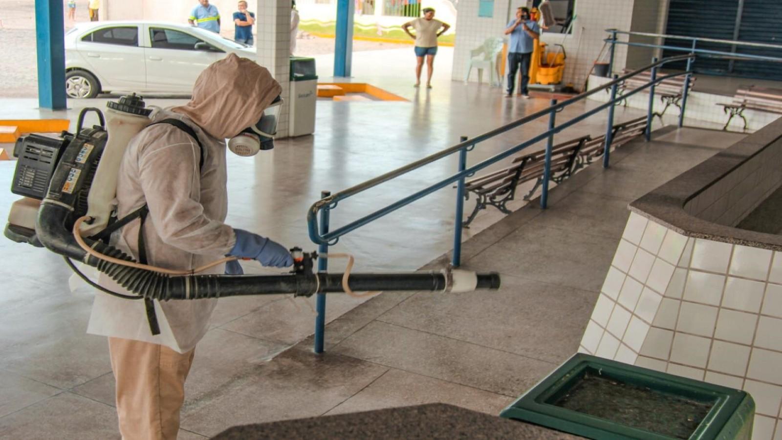 Vigilância sanitária de Serra Talhada realiza ações de desinfecção na cidade