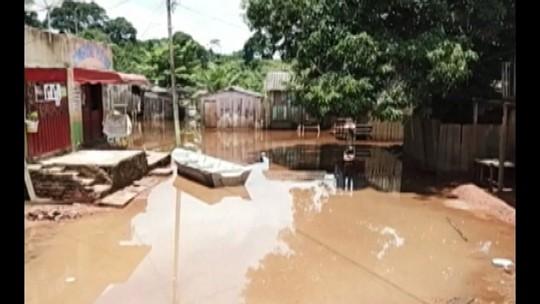 Nível do rio Parauapebas volta a subir e preocupa autoridades no sudeste do Pará