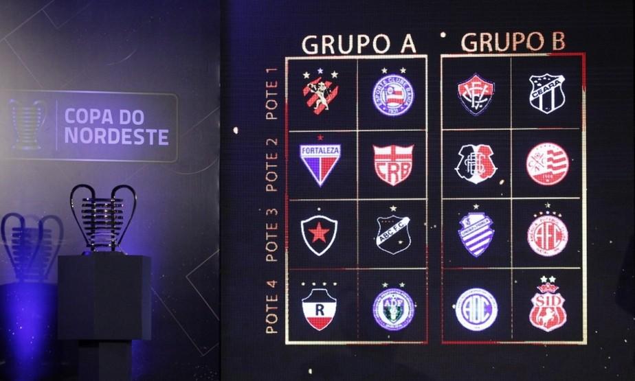 Tabela da Copa do Nordeste: nos Aflitos, River-PI pega o Náutico na estreia; 1º jogo em casa é com CSA
