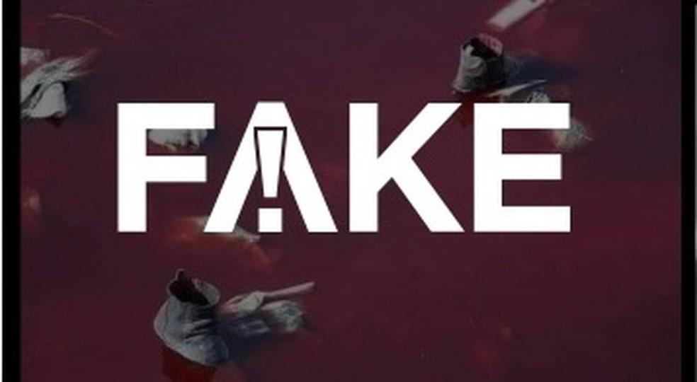 É #FAKE que imagem mostre rio tingido de sangue após ataque em Cabul em 2021 — Foto: Reprodução