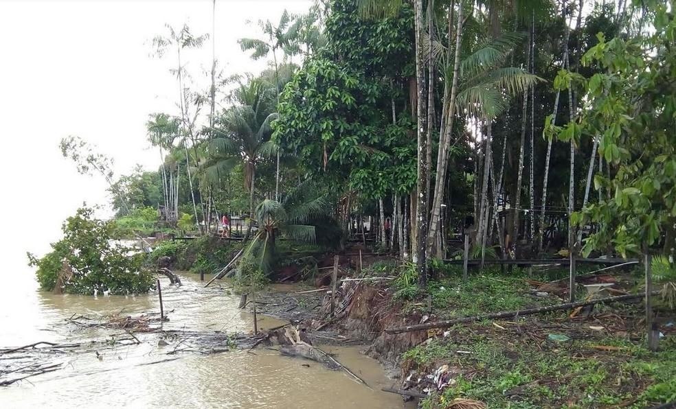 Fenômeno sempre ocorreu na área, mas se intensificou nos últimos anos (Foto: Divulgação/Defesa Civil)