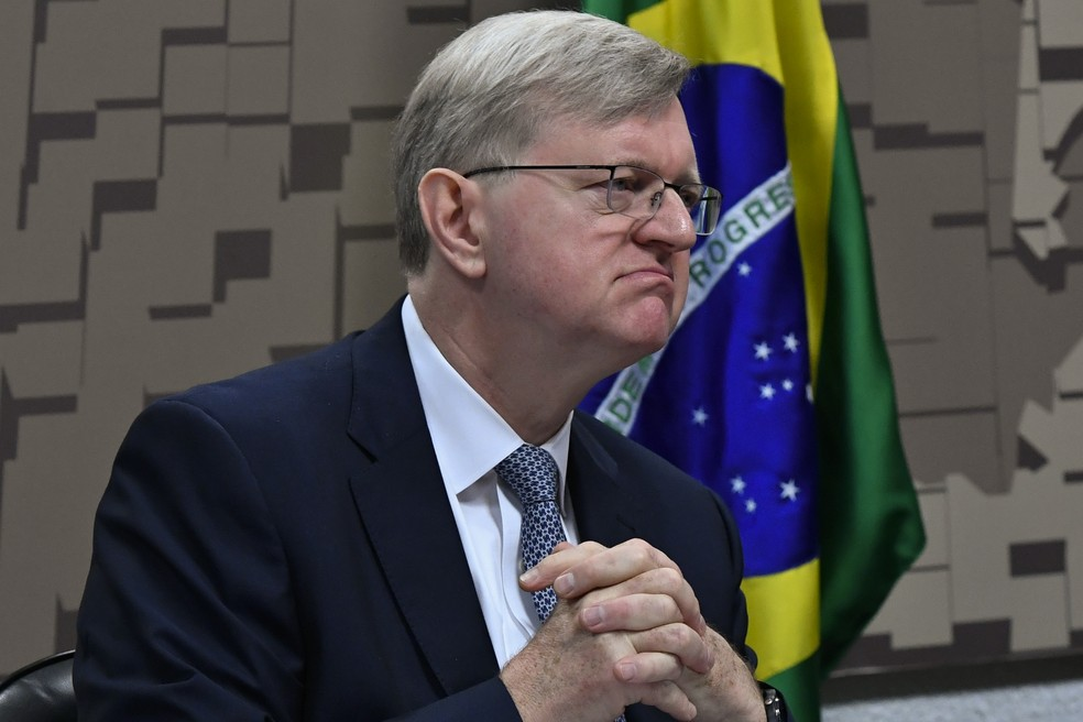 Nestor José Forster Junior ao ser sabatinado em comissão do Senado — Foto: Geraldo Magela/Agência Senado