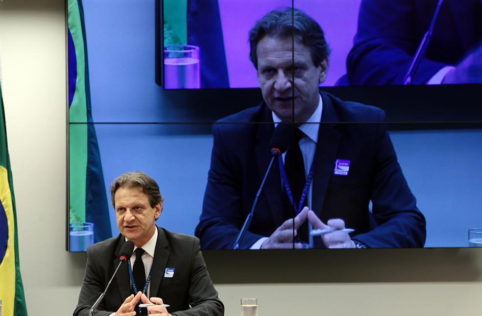 O economista e servidor do Banco Central, Ricardo Liáo, durante audiência na Câmara dos Deputados — Foto: Antonio Araújo/Câmara dos Deputados