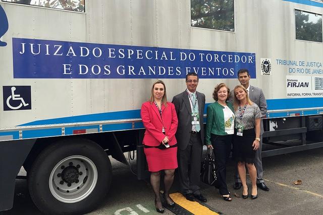 O Juizado Especial montado na Cidade do Rock no Rio de Janeiro