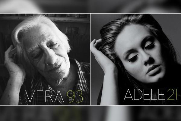 A capa do álbum '21', da cantora Adele, foi um dos trabalhos recriados pela casa de repouso da Inglaterra (Foto: @robertspeker / Twitter)