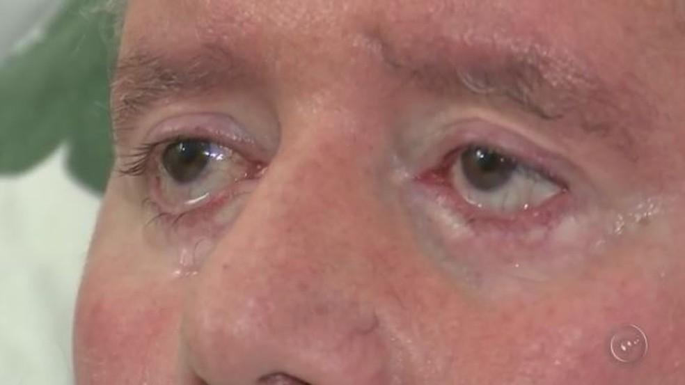 Dentista de Tietê adaptou código morse para piscadas dos olhos (Foto: Reprodução/TV TEM)