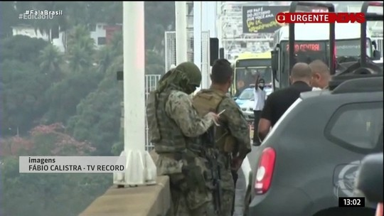 Vídeo mostra momento em que sequestrador foi baleado