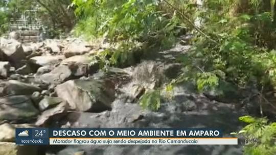 Vídeo mostra despejo de água suja no Rio Camanducaia, em Amparo; Cetesb prevê vistoria