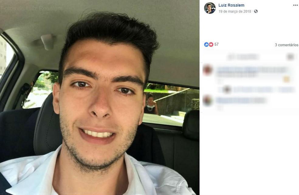 Luiz Rosalem, de 29 anos, dirigia BMW envolvida em acidente em Rio Claro â?? Foto: Reprodução/Facebook