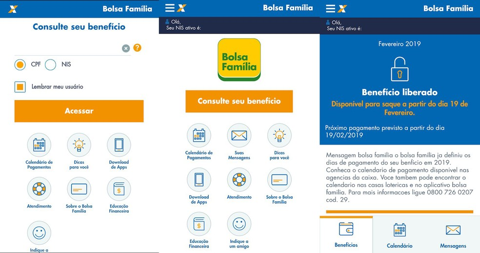 Bolsa Família: app permite consulta de dados sobre o programa — Foto: Divulgação/Caixa