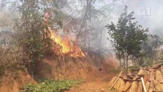 Miracema registra dois incêndios em vegetação na RJ-116