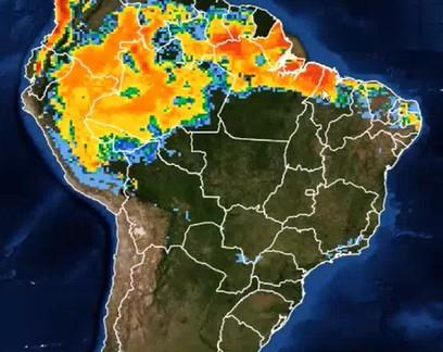 Norte e Nordeste devem ter grandes volumes de chuva até o fim de semana