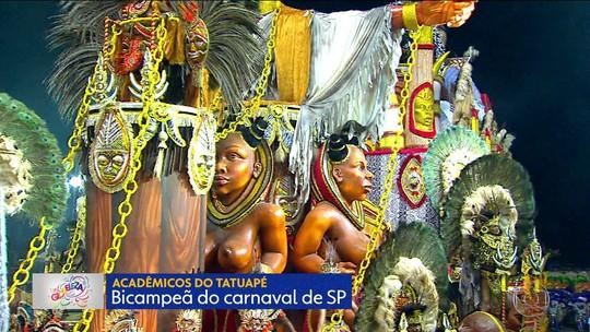 Tatuapé e mais sete escolas fazem nesta sexta o Desfile das Campeãs de SP