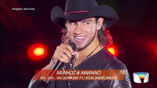 Munhoz & Mariano e Capital Inicial são destaques do fim de semana na região