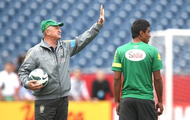Felipão treino Seleção Brasileira Boston (Foto: Mowa press)