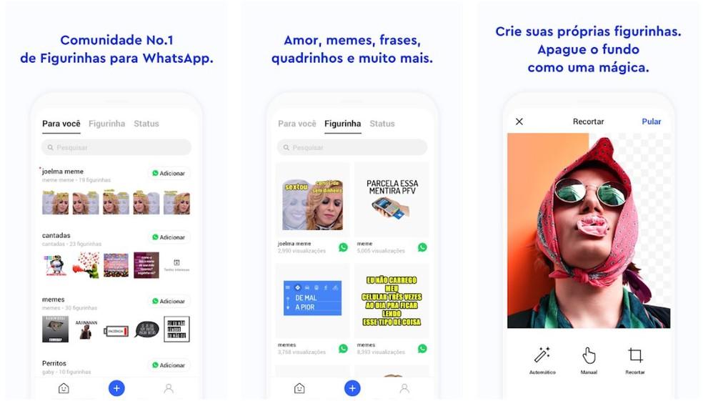 Aplicativo facilita a criação de figurinhas para WhatsApp — Foto: Reprodução