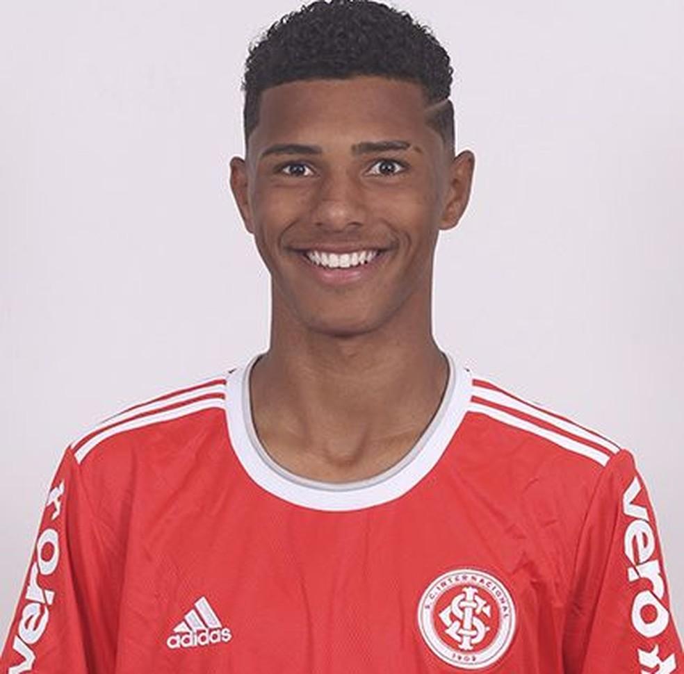 Vinícius Tobias atua no juvenil do Inter — Foto: Ricardo Duarte/Divulgação, Inter