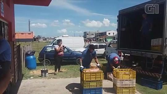 Duas toneladas de alimentos são recolhidas em operação no Litoral do RS