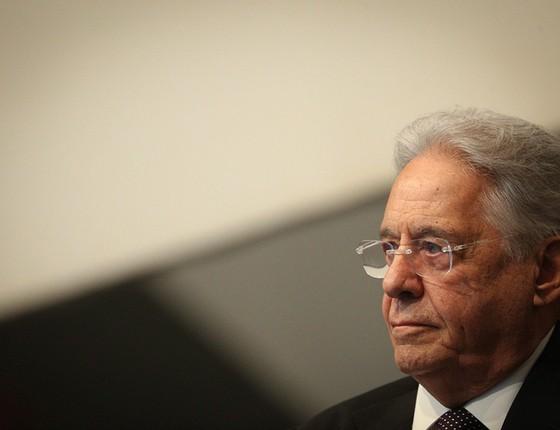 Fernando Henrique Cardoso lança livro com ensaios sobre a política e o Brasil, no qual tece críticas a adversários e faz limitada autocrítica (Foto: ANDRÉ COELHO / AGÊNCIA O GLOBO)