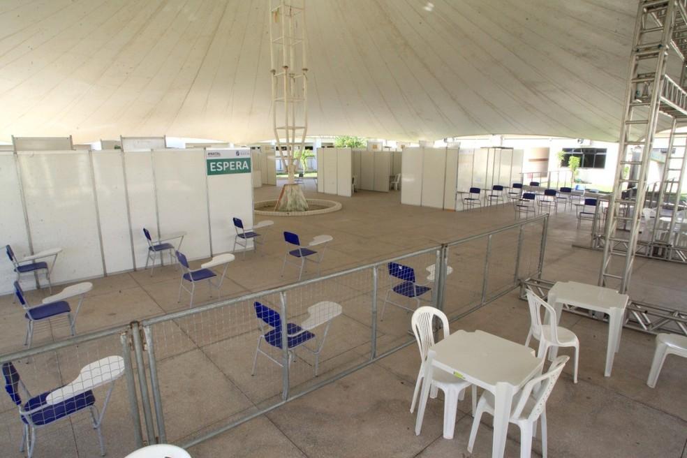 Centro de Enfrentamento à Covid-19 no Cemure, em Natal, teve atendimento suspenso — Foto: Divulgação
