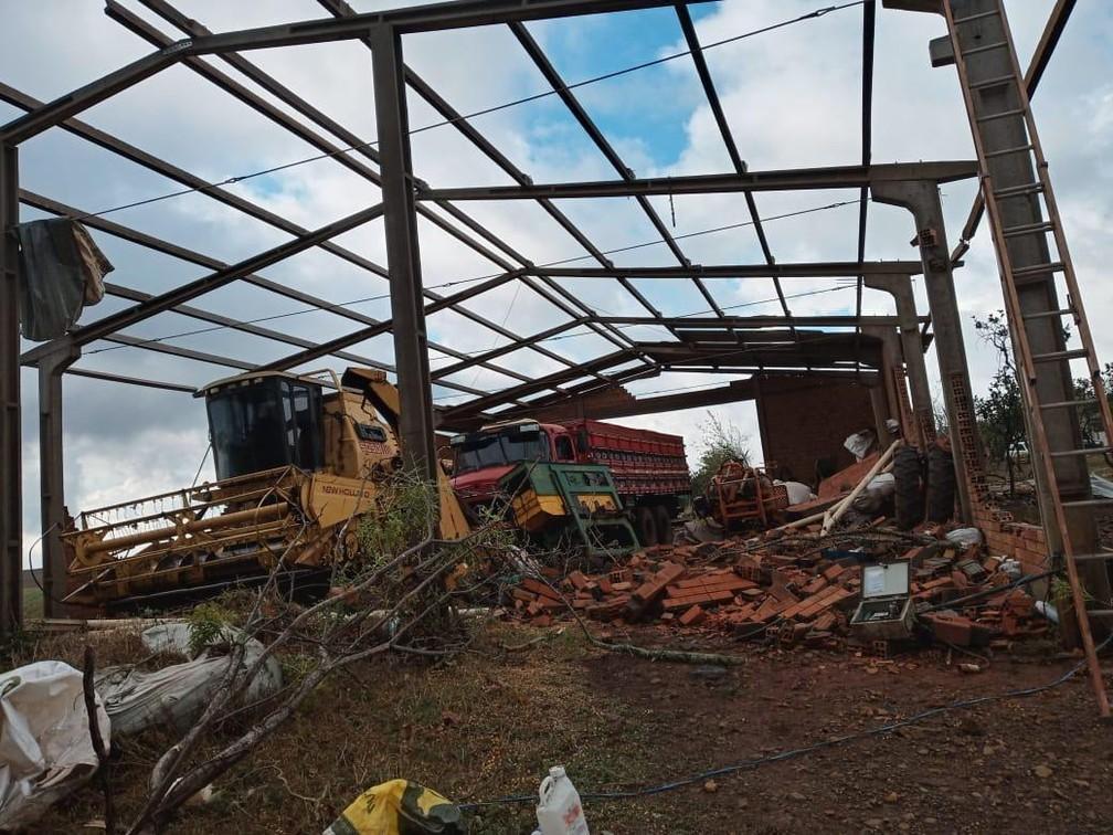Mais de 20 indústrias foram atingidas por tornado em Campos Novos (SC) — Foto: Ascom Campos Novos/Divulgação