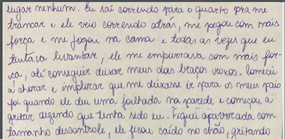 Caso Henry Borel: carta de Monique Medeiros (parte 8) — Foto: Reprodução