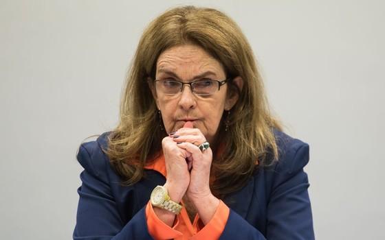 A ex-presidente da Petrobras Graça Foster depõe na comissão parlamentar de inquérito da Câmara que investiga a estatal (Foto: Marcelo Camargo/Agência Brasil)