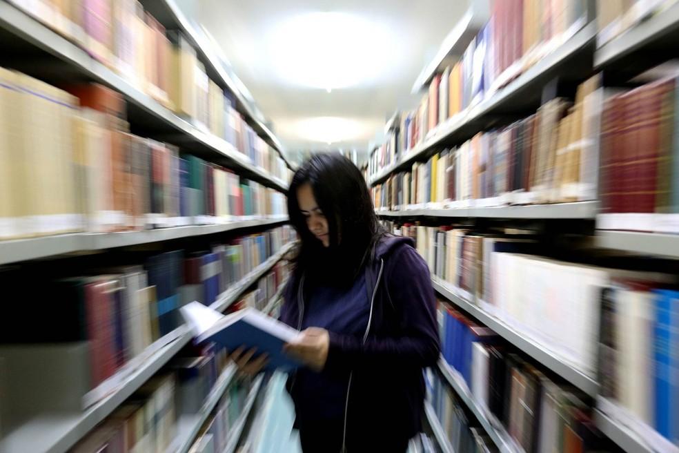 Entre as desistências, 84,4% eram de alunos matriculados em instituições privadas e 16,6% em públicas (Foto: Cecília Bastos/USP Imagens)