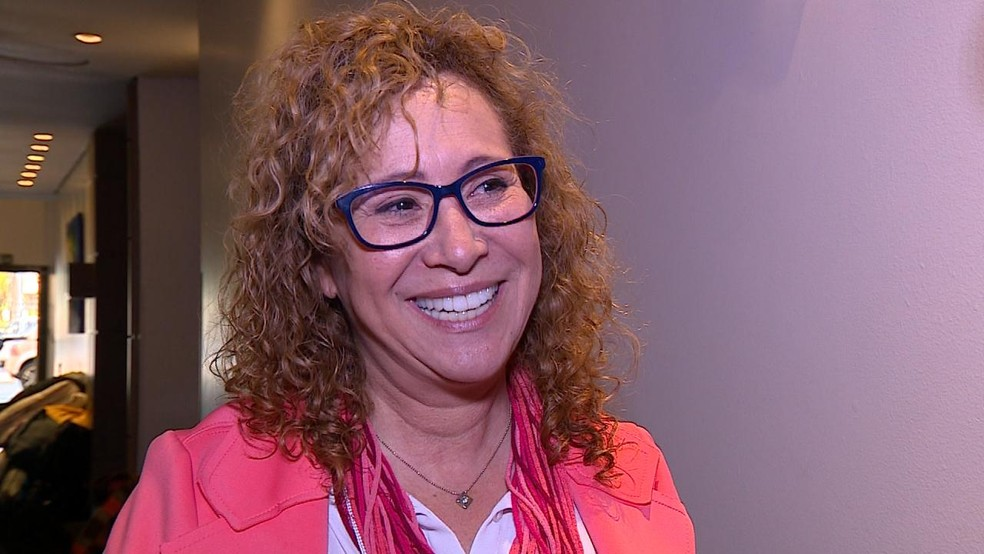 Abigail Pereira é candidato ao Senado pelo PCdoB (Foto: Reprodução/RBS TV)